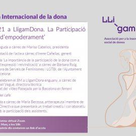 10.03.2021 | LligamDona celebra el 8M 2021 amb l'acte 'La Participació com a eina d'empoderament'