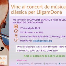Concert benèfic de música clàssica + llibre a favor de LligamDona_17.05.2021